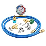 Lichamp A/C R134A Refrigerator Freon Recharge Kit with Bullet Piercing Valve, Piercing and Self-Sealing Can Tap 134A