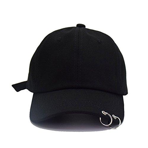 Amknn, berretto da baseball Bang Tan Boys, in cotone, regolabile BTS LIVE THE WGS TOUR/Nero Taglia unica