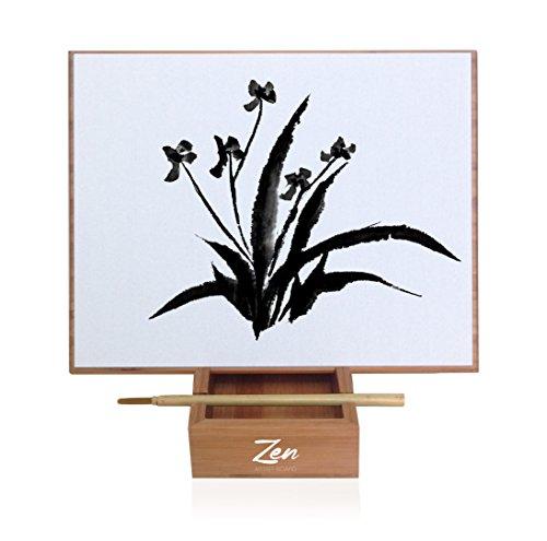 Zen Artist Board Bamboo, Paint with Water Relaxation Meditation Art, Relieve Stress,...