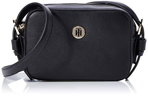 Tommy Hilfiger Classic Saffiano Camera Bag, Borse Donna, Nero (Black), 6x0.1x19 centimeters (W x H x L)