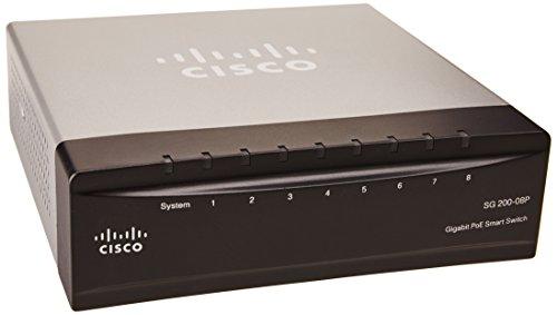 Cisco SG200-08P 8-port (4 Reg + 4 PoE) Gigabit PoE Smart Switch (SLM2008PT-NA)