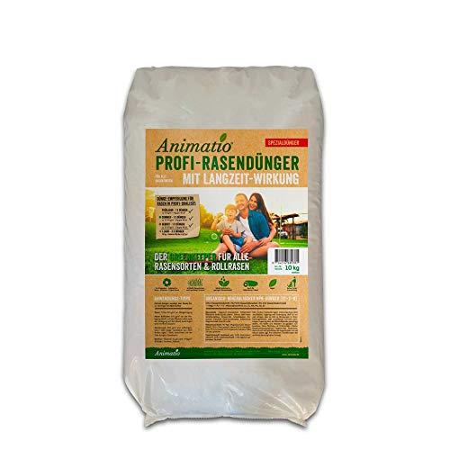 Rasendünger Langzeitwirkung Animatio Dünger Greenkeeper-Qualität, saftig, grüner Rasen, Inhalt: 10kg