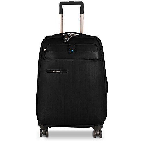 Great Deal! Piquadro Medium Size Spinner with TSA Lock, Black, One