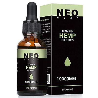 NeoHemp Natural Oil 10000mg | 30ml 100% Pure Natural Ingredients, Vegan & Vegetarian Friendly