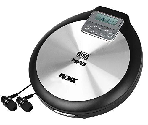 ROXX Discman tragbarer MP3 CD-Player mit Anti-Schock PCD 600 inklusive Netzteil