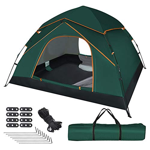GEEDIAR Automatic Pop Up Tent for 3-4 Person,Upgraded Camping Tent...