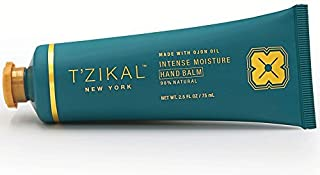 T'zikal's Intense Moisture Hand Balm with Ojon Oil-Natural Hand Balm and Hand Therapy Cream for Best Hand Repair-Dry Cracked Hand Repair-Cracked Hand Relief - Hand Cream for Women-Paraben Free Lotion