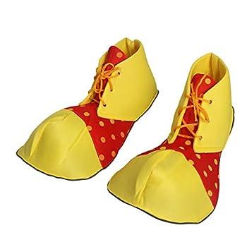 BinaryABC Halloween Costume Clown Shoes,Clown Costume Accessories Red