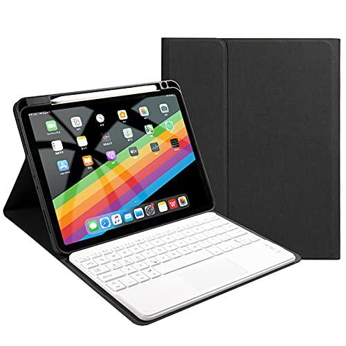 WYZDQ Caja del Teclado con touchpad para iPad Pro 11 Pulgada 2021, Cubierta de Teclado Protector Delgada inalámbrica Desmontable con Soporte para el Soporte de lápiz,Negro