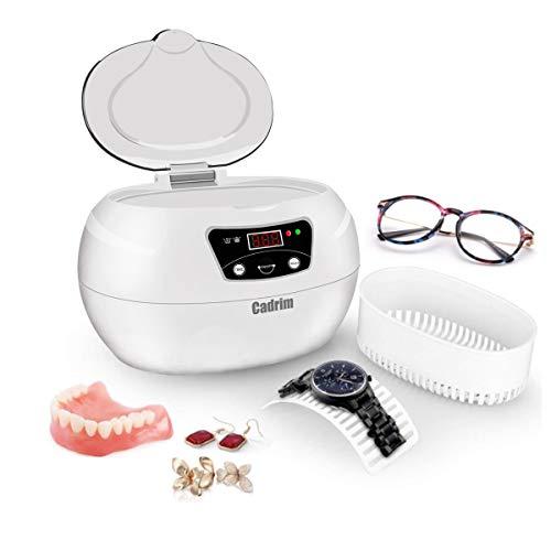 Cadrim Ultraschallreiniger, Ultraschallreinigungsgerät 600ML, Ultraschallbad Ultraschall Reiniger Reinigungsgerät für zuhause Gläser Düse Zahnersatz Schmuck-Reiniger(600 ml).