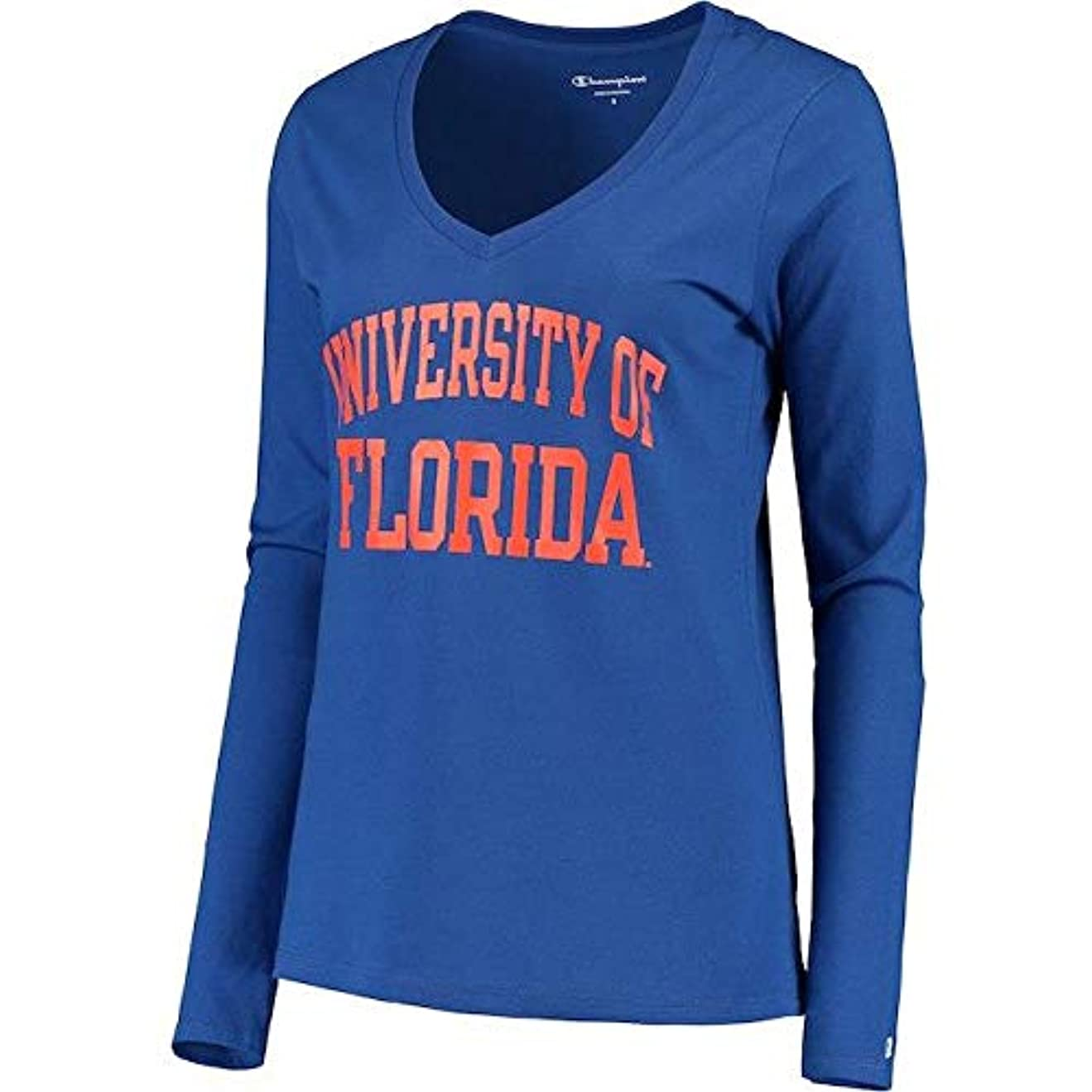 負勇気シャーChampion Champion Florida Gators Women's Royal University Long Sleeve V-Neck T-Shirt スポーツ用品 【並行輸入品】