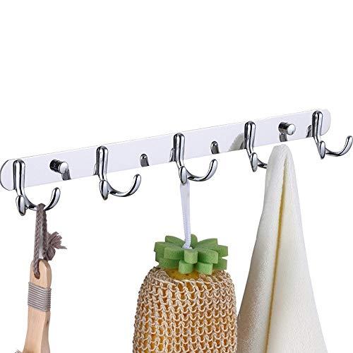 QQZQQ (2 Unidades) Ganci per asciugamani Gancio Appendiabiti Gancio Bagno da Parete fissaggio a Muro gancio appendiabiti asciugamano gancio, per bagno, Toilette, Camera da letto, cucina