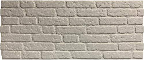 asCountryStone Klinkeroptik ST White | 120x50cm | Wandverkleidung, frei Gestaltbar, individuell Designbar