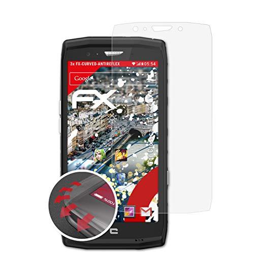 atFolix Schutzfolie kompatibel mit Crosscall Trekker X4 Folie, entspiegelnde & Flexible FX Bildschirmschutzfolie (3X)