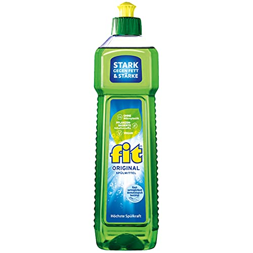 Fit Washing Up Liquid Original Highest Washing Power Strong Against Grease 750 ml