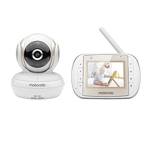 Motorola MBP30A Video-Babymonitor mit 7,6 cm (3 Zoll) Handheld Parent Unit und Remote Pan Scan