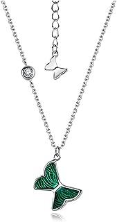 Necklaces القلائد الفاخرة للنساء، بلمسة من الأخضر، غامض وأنيق، منقط مع أكتاف الرقبة، قلادة رائعة Necklace for Women