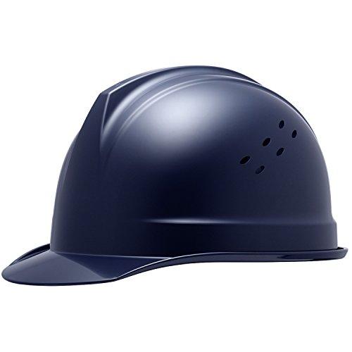 ミドリ安全 ヘルメット バイザー型 一般作業用 通気孔付 SC1BNV RA KP付 ネイビー