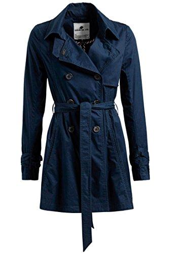 khujo Damen Mantel MERITA aus Baumwolle Sommermantel mit ausgestelltem Schnitt Trenchcoat mit Gürtel