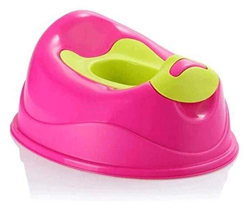 MTCWD Niños portátiles Inodoro extraíble Bollo portátil y Asiento de Entrenamiento para niños pequeños (Color : Pink, Size : 39x47x23cm)