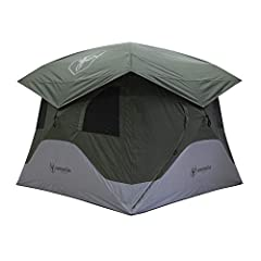 """Alpine Green tent fits 4 people with plenty of room for additional gear 78"""" tall allowing you to move around freely Hub design makes assembly fast and easy Six, tight-weave mesh windows Two D-shaped doors with tight-weave mesh screens; Beefy YKK zipp..."""