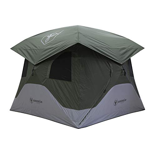 "Gazelle T4 GT400GR Pop-Up Portable Camping Hub Tent, Easy Instant Set up in 90 Seconds, Alpine Green, 4-Person, Family, Overlanding, 94"" x 94"" 4-Person Tent"