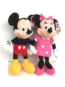 Disney Mickey and Minnie Mouse 10  Plush Bean Bag Doll