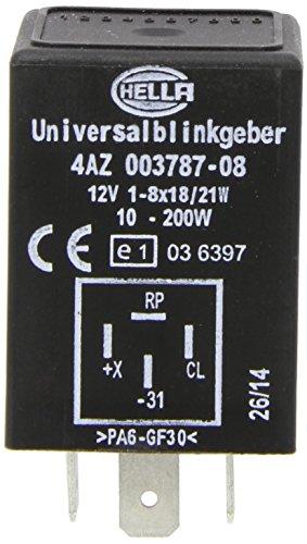 HELLA 4AZ 003 787-081 Blinkgeber - 12V - 4-polig - Anbau/gesteckt - mit Halter