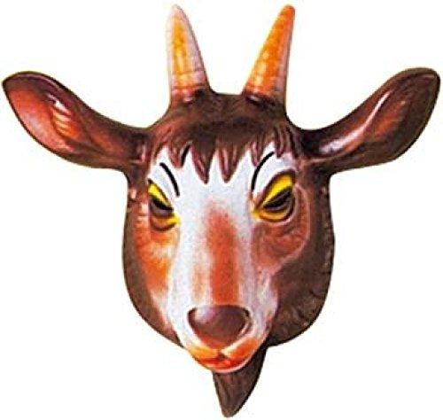 Mondial-fete - 4 Masques chèvre enfant PVC 3D - 23 x 23 cm