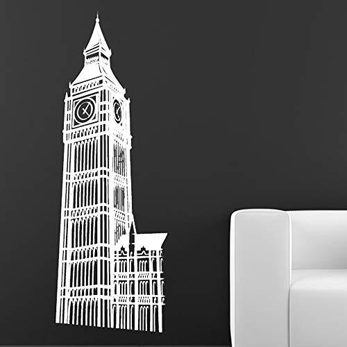 WTTTL sticker mural autocollant muralBien connu Big Ben Wall Sticker Salon Décoratif Londres Landmark Bâtiment Home Decor Vinyle Papier Peint 44 * 125 cm