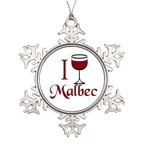 Cukudy Malbec wijn liefhebber geschenken decoratieve kerstboom decoratieve sneeuwvlok ornamenten bruiloft verjaardag Keepsakes
