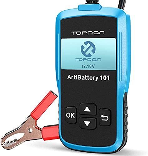 TOPDON ArtiBattery AB101 Tester Batteria 12V Analizzatore Digitale 100-2000 CCA Alternatore Strumento di Scansione Sistema di Avviamento e Ricarica per Auto SUV e Camion Leggeri