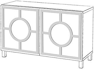 comprar comparacion Moonwallstickers.com IKEA Besta Kits - Juego de Adhesivos para Muebles IKEA BESTA, Gold Mirror, 2 Doors - Porto