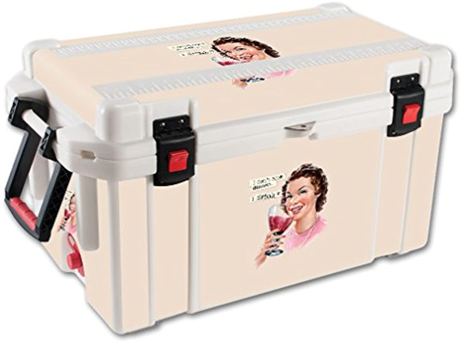 MightySkins Skin Compatible with Pelican 65 qt Cooler – Wine Cook   Predective, Durable, and Unique Vinyl Decal wrap Cover   Easy to Apply, Remove, and Change Styles   Made in The USA
