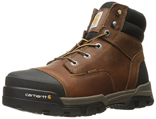 Carhartt Men's Ground Force 6-Inch Brown Waterproof Work Boot - Soft Toe, Peanut Oil Tan Leather, 12 W US - New For 2017 - CME6055