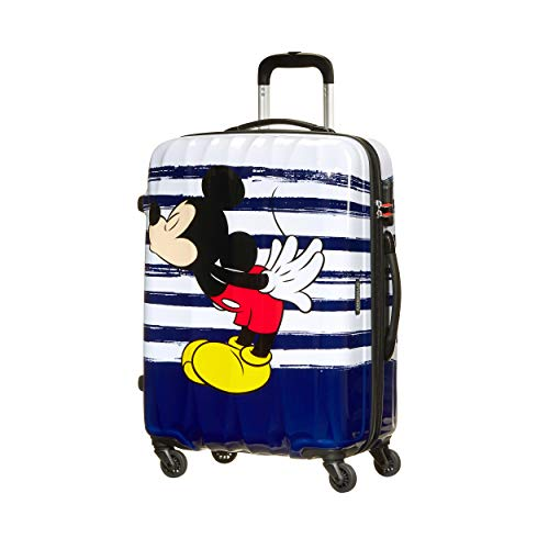 American Tourister Disney Legends - Spinner M Valigia per Bambini, M (65 cm - 62.5 L), Multicolore (Mickey Kiss)
