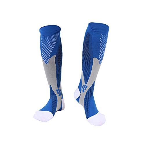 N/D Sport Kompressionssocken Für Männer & Frauen Athletic Fit, Sport Compression Calf Sleeves Für Männer & Frauen, Anti Fatigue Schmerzlinderung Kniestrümpfe 1 Paar,L/XL