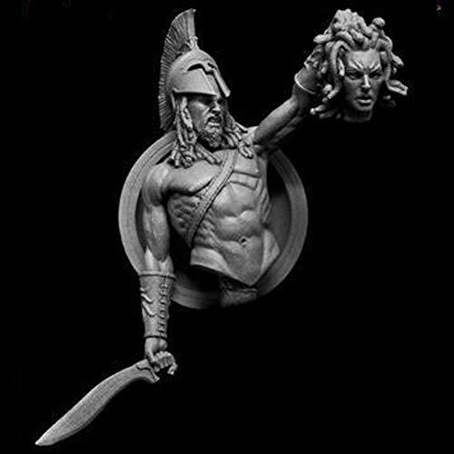 CHOUDOUFU Escultura Estatua Decoraciónperseo 1/9, Busto Modelo De Resina Gk, Hijo De Zeus, Papel Mitológico, Kit Sin Montar Y Sin...