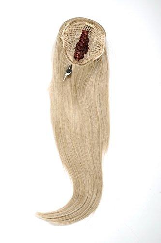 WIG ME UP - Postiche queue de cheval/natte volumineuse lisse tombante mini-pince-papillon élastique env. 60 cm blond cendré WK06-22