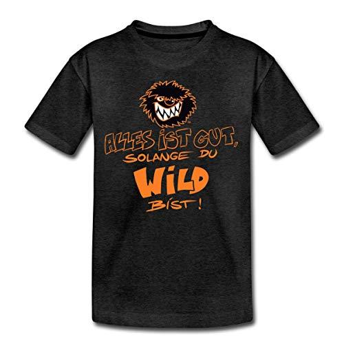 Die Wilden Kerle Spruch Motto mit Logo Teenager Premium T-Shirt, 146-152, Anthrazit