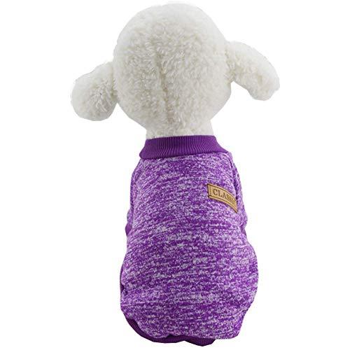 Huisdier hond kat trui klassieke warme jas zachte breigoed kleding voor huisdier puppy warme kleding