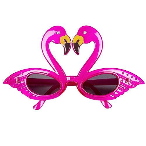 Boland 02579 - Partybrille Flamingo, Einheitsgröße für Erwachsene, Kunststoff, Tiere, Spaßbrille, ohne Sehstärke, Sonnenbrille, Bad Taste Party, Motto Party, Karneval