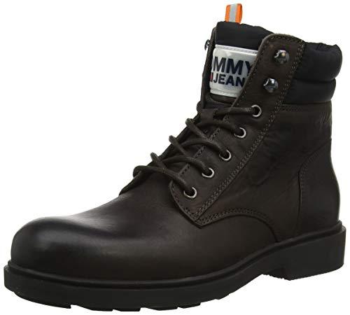 Tommy Hilfiger Herren Casual Leather Boot Klassische Stiefel, Braun (Coffee Bean 212), 45 EU