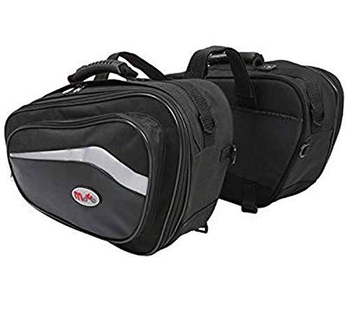 Viper Moto Accessories A352 Accessoires Valise et Bagages pour Moto et Selle en Cuir Poches Speed Poches latérales, Black, One