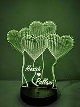 DESIGNELLE Wood and Plastic 16 Colour Changing 3D Illusion LED Lamp (Multicolour)