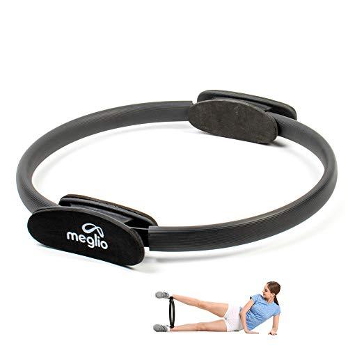 Meglio Pilates Widerstands Trainings Ring 36cm, Weiche Doppelt Gepolsterte Griffe & Leichter Pilates Circle für Gleichgewicht, Flexibilität & Ganzkörpertraining, Inklusive Kostenloser Übungsanleitung