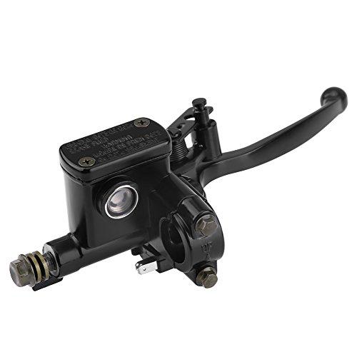 Qiilu Bomba de freno delantero de 7/8 pulgadas para palanca de 50 cc 110 cc 150 cc Quad Bike Dirty Pit Bike ATV lado derecho con agujero de espejo universal de 8 mm