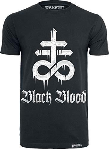 Black Blood Leviathan Hombre Camiseta Negro, Regular