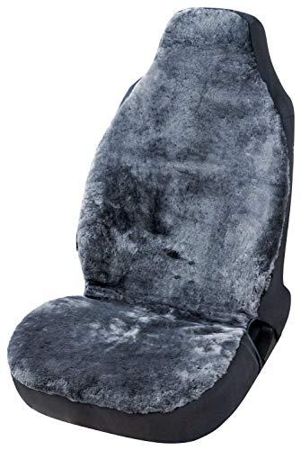 Walser Autositzbezug Zoya aus Lammfell anthrazit mit Zipp IT System für Highback Sitze