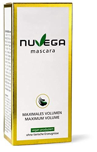 NuVega Mascara - Vegane Wimperntusche mit Verlängerung & Volumen Effekt - 5 ml.